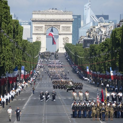 French Troops Parade Paris
